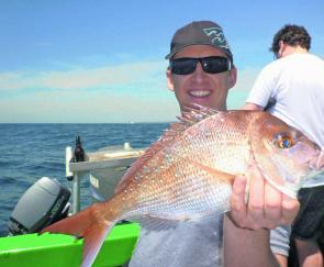 This snapper was caught in 65metres wide of Coogee.