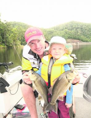 The quiet waters of bass dams can be really good places to start off at an early age.
