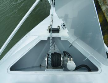 Anchor winches are virtually mandatory in most boats nowadays. The McLay's lives in the anchor well.
