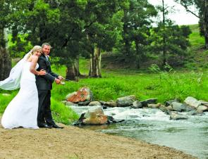 Readers may remember how Steve proposed to his then fiancé in his report last year. This is the happy couple on their wedding day back in April on the banks of the Torago River.