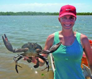 There are heaps of crabs on offer throughout May in Bowen and all creeks are worth crabbing.