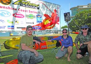 Joe Hammerston was stoked to win an Extreme Kayaks Fish Bandit in the random draw.