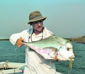 When diamond trevally get this big they are an awesome fish that are well worth the effort.