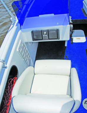 Seating within the BV5000 is deluxe, with the front sections dropping to make standing easy.