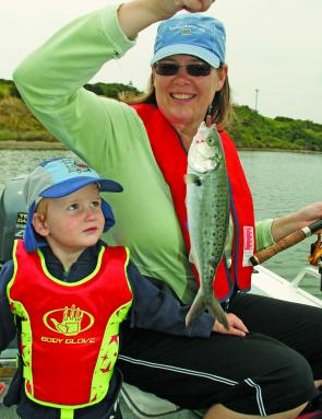 Bait gathering can be fun for the whole family. Yes, that's the bait. Salmon are great for tempting big kingfish.