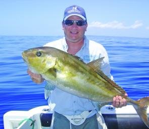 When the currents are slow enough some great amberjack fishing can be had with live baits.