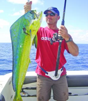 The pelagic season has been fantastic so far with fish like this dolphinfish not uncommon.