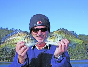 Bill Boyton had some fun with bream on hardbodies; these fish were released in great condition.