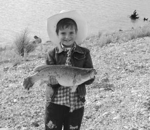 Jordan Keefe, 8, of Boorowa, caught this 2.86kg cod.