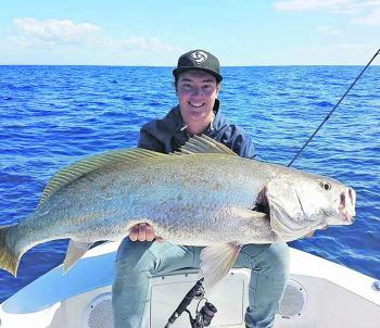 Aiden Kane with a cracking mulloway taken from a close reef off South Ballina.