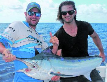 Luke and Matteo with a beaut marlin. There's plenty of cracker sportfish to get into before Christmas, and after!