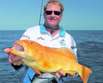 Rob Wilson with a great coral trout.