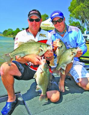 Steve Otto and Matt Johnson from SEQ Fish started the event in grand style picking up second and big bass in the first session.