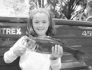 Ivy Styles outfished the boys to take the junior bass award for the Hastings Bream and Bass Club.