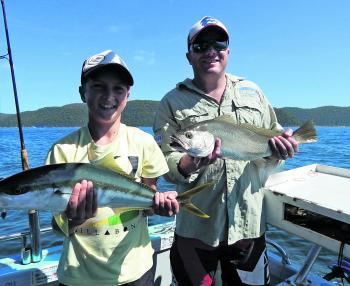 Kai and Mark showing the variety on offer around Pittwater.