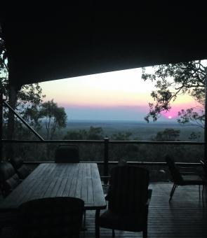 The view from the Arnhem Land Barra Nature Lodge.
