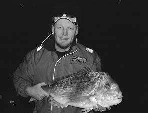 Darkness and shallow water is a top combination for big snapper.