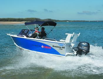 Stessco's Breezeaway 480 is a really easy to use rig, whether you're downsizing from a bigger boat or opting for a more comfortable option than an open tinnie.