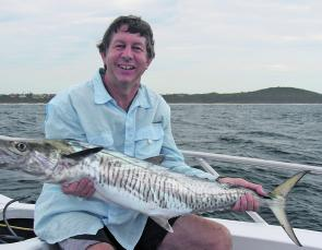 Keith Sloan with an average Ballina mackerel for this time of year.