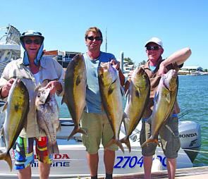 Getting these quality amberjack and pearlies past the sharks on the wider grounds was certainly a challenge.