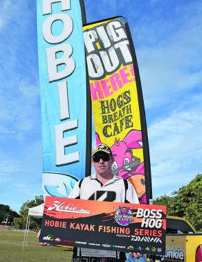Lure Rogan's 910g Nerang River kicker fish took out the event's Hogs Breath Boss Hog.