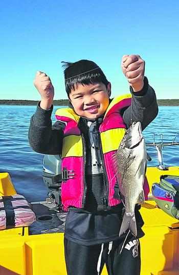 Jasper was happy to get into a few Bemm River bream recently.