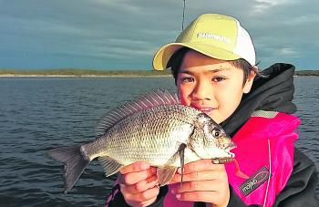 Samuel caught his first bream on a lure, which is a fantastic achievement for such a young angler.