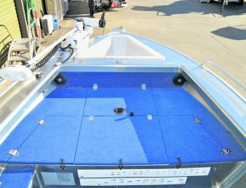 The front casting deck is large enough to fish two people from and has plenty of storage underneath.