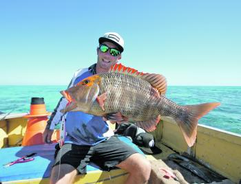 Jackson Boric with a solid redthroat taken on a recent Swains Reef trip.
