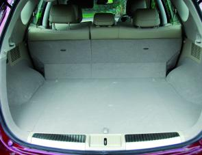 The Murano's large cargo area is enhanced by power operation for the rear seat fold down system.
