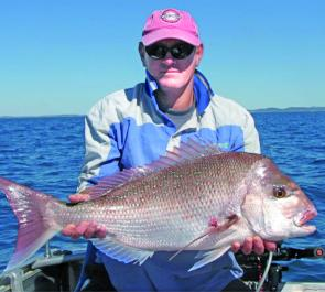 Ray Noe was extremely pleased with this snapper that found his hook off Rundle Island