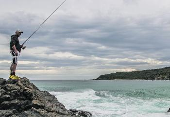 Rock fishing can get slippery and dangerous but this month is a great time to do it, practising safety, of course.