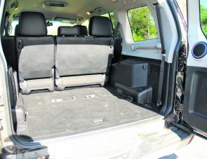 Rear seats tuck neatly away when not in use allowing for easy storage of fishing or camping gear.