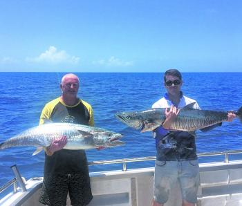 Individual big Spanish mackerel have been around in the warmer months.