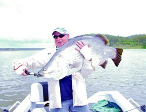 For those of you that are not confident cast angler's, this 120cm barra was caught trolling soft plastics at Monduran.