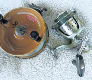 Both of these reels (Alvey and threadline) will twist your line. The Alvey creates twist as the line comes off the spool in a different manner to how it is retrieved back onto the spool. The threadline runs into issues when fish take drag.
