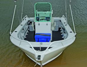 A clean uncluttered layout makes the Formosa 520 an excellent fishing boat for the serious angler.
