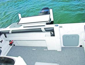 A transom pocket isn't something we usually see in a trailer boat, but is a helpful addition.