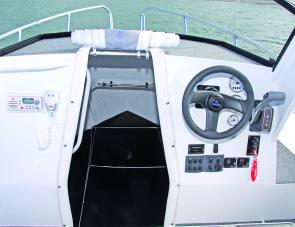 A tidy dash layout makes the skipper's job easy.