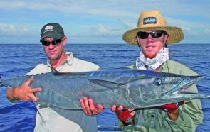 Wahoo can occasionally show up around the outer islands with gamefishing techniques.