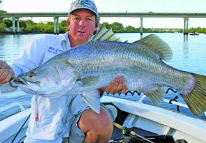 Some big barra have been caught in the Boyne River after escaping Awoonga over the spillway.