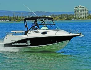 The Evolution 552 rides smooth and dry. It should be a good rough-water performer.