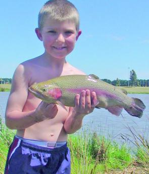There is a lot of family fun to be had at Casey Fields as this young angler demonstrates.