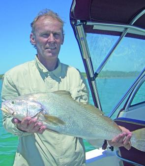 Paul caught this jewfish from the wreck off Cape Capricorn.