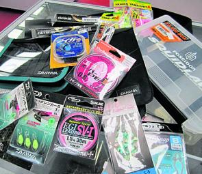Squid tackle and accessories are endless and often very well designed and thought out, especially the storage boxes, tools and bags. Just like the better quality jigs, premium PE lines and leaders will greatly increase performance of your squid fishing ta
