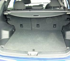 There's 465L of load space here, even more with one or both of the rear seats down.