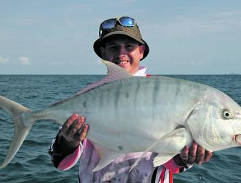 Big trevally are a real possibility on the headlands on both lures and baits.
