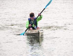 Paddling is easy and the Camden is fast across the water.