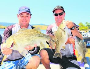 Adrian Melchior and Steve Otto finished second and picked up the Big Bass in session two.