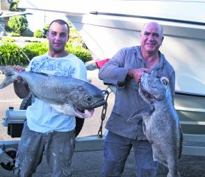 Harry and Fred of Melbourne with a couple of great blue eye trevalla.